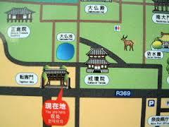 東大寺転害門周辺地図