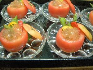 射込みトマトのゼリー酢