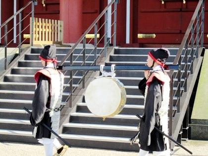 衛士隊の太鼓