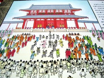 奈良時代の朱雀門