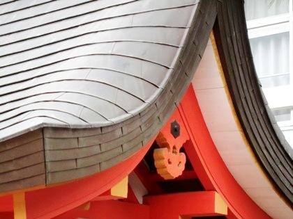 采女神社の猪目懸魚