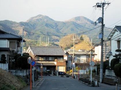 萩乃里から望む山