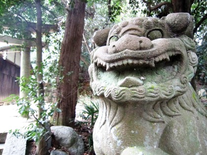 八坂神社阿形の狛犬