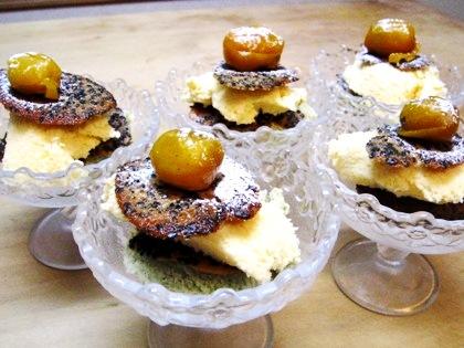 柚子アイス赤味噌チュイル