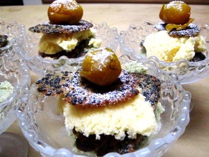 柚子アイス赤味噌のチュイル仕立て