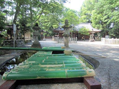 鏡作神社の手水