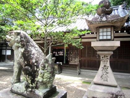 鏡作神社の狛犬