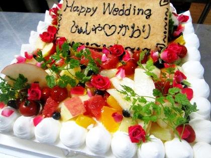 野菜ウェディングケーキ