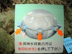 狭井神社の水案内