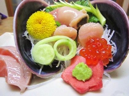 オク貝の刺身