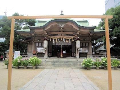 坐摩神社の茅の輪神事