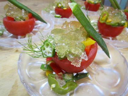 トマトの夏野菜ゼリー寄せ