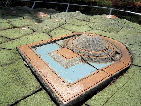 乙女山古墳の模型