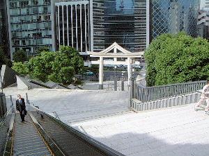 山王日枝神社の裏参道