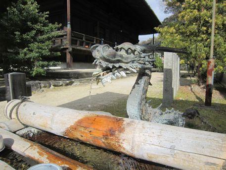 西大寺手水舎の龍