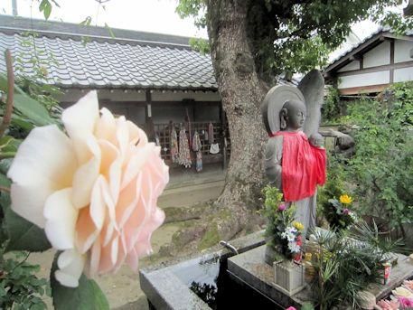 おふさ観音水子地蔵と薔薇