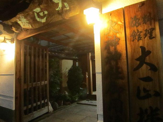 料理旅館大正楼玄関