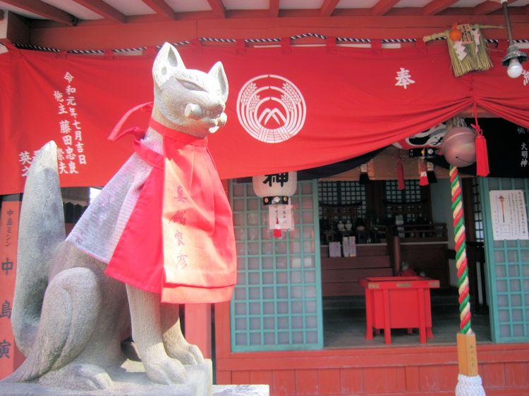 赤土稲荷社の狛狐