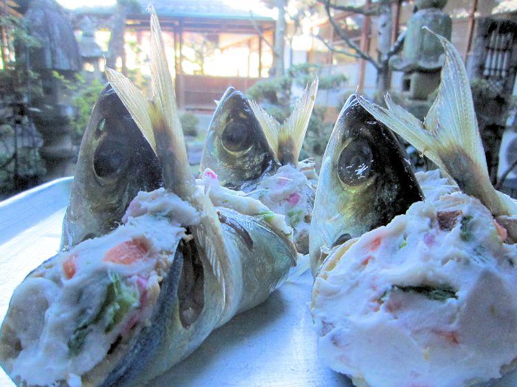 背割りメアジと海老芋