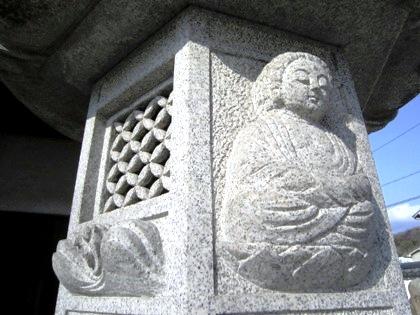 五劫思惟阿弥陀如来の石燈籠