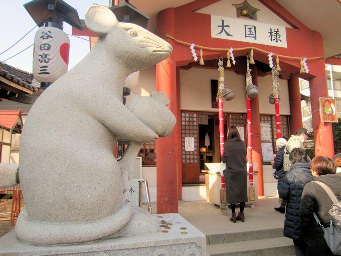 大国主神社の狛ネズミ
