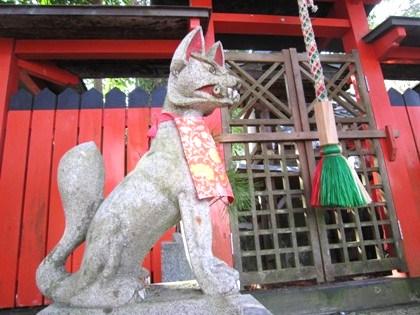 久富大明神の狛狐