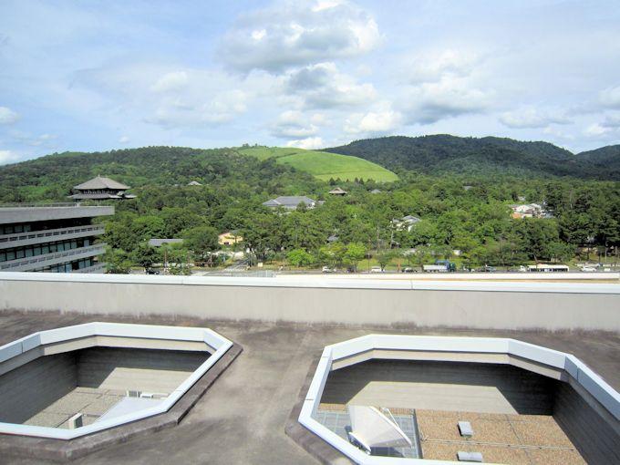 奈良県庁屋上からの景色