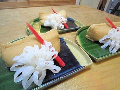 古代米とおからの稲荷寿司