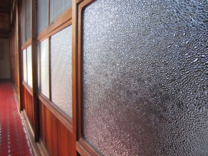 昭和型板ガラス「ダイヤ」