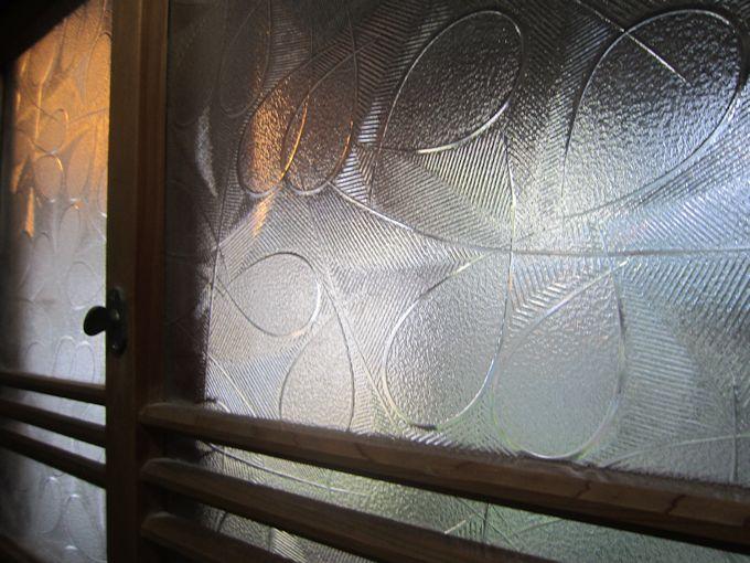 昭和型板ガラス「若葉」