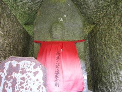 長岳寺の地蔵石仏