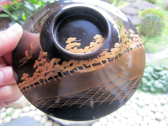 輪島塗の松島蒔絵椀