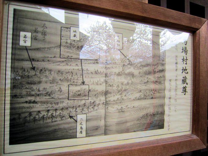 馬場本村地蔵堂の古地図