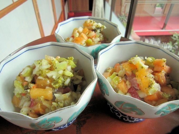 金目鯛の柿ラヴィゴットソース