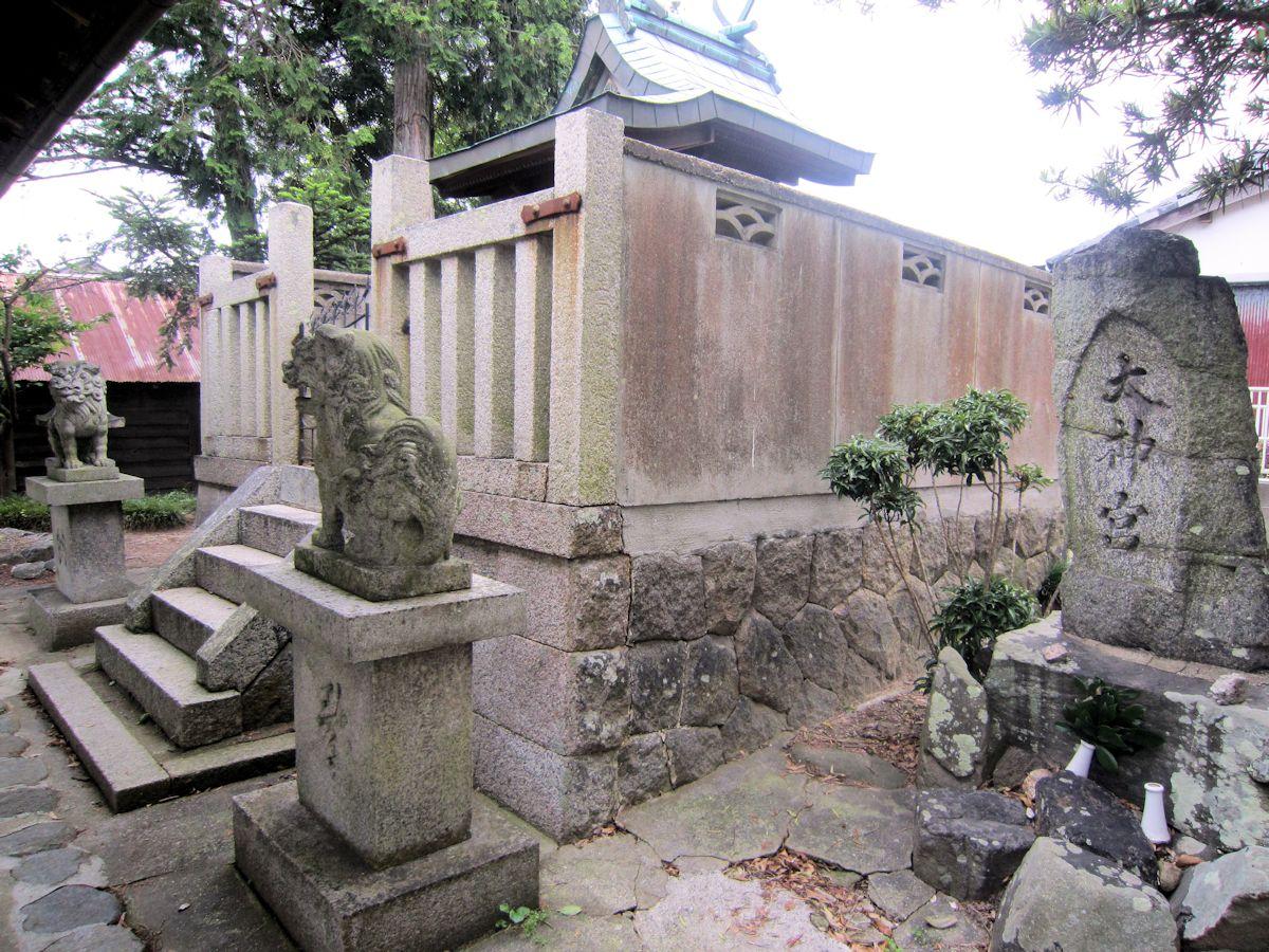 渟名城入姫神社の太神宮石碑