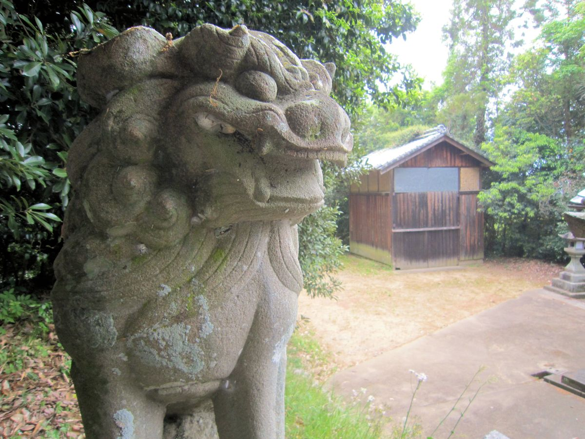 板蓋神社の浪花狛犬