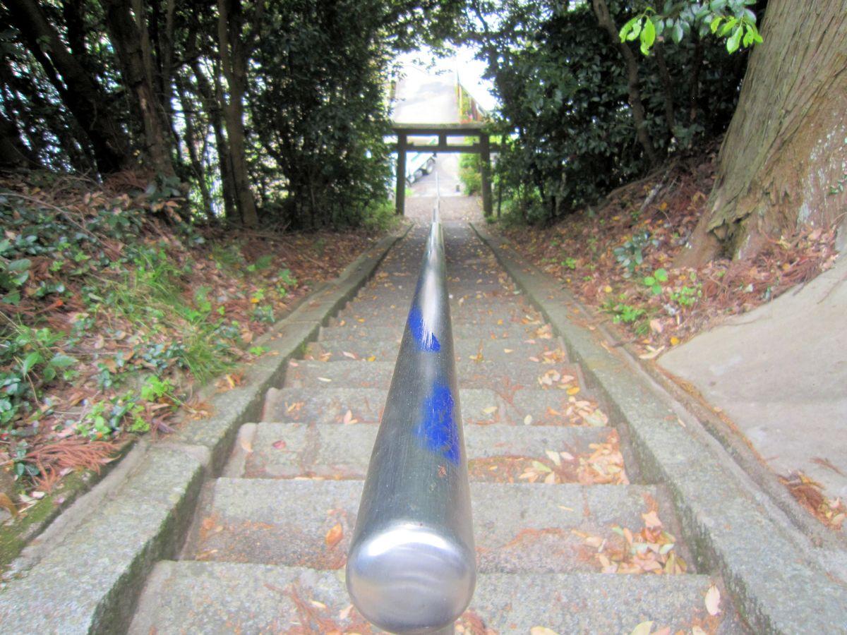 板蓋神社の石段