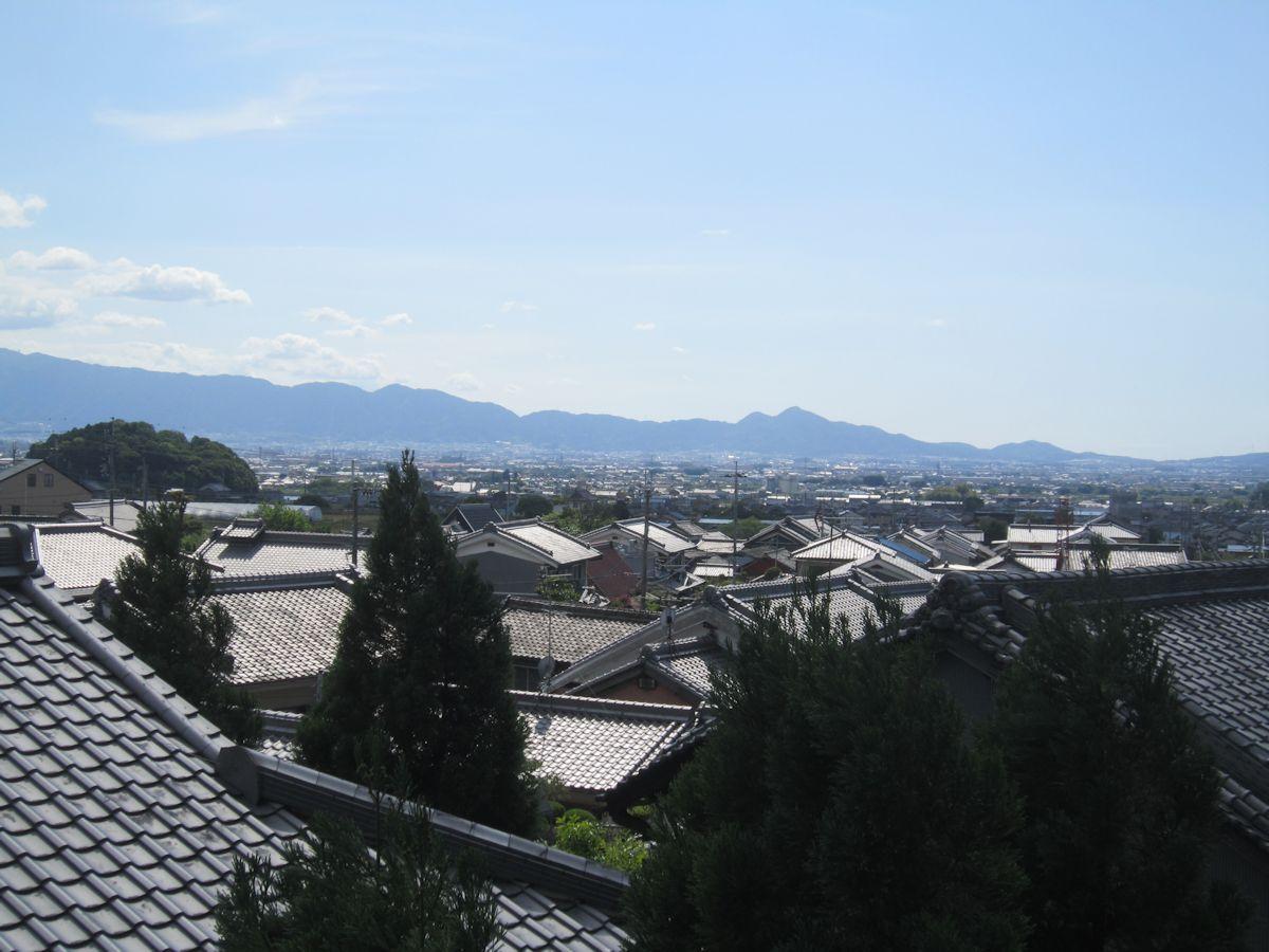 箸墓古墳と二上山