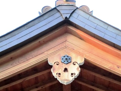 多神社拝殿の懸魚