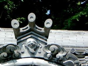 笠山荒神社の屋根瓦意匠