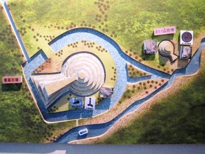 箸墓古墳とホケノ山古墳の立体模型