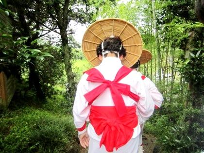 御田植祭の早乙女