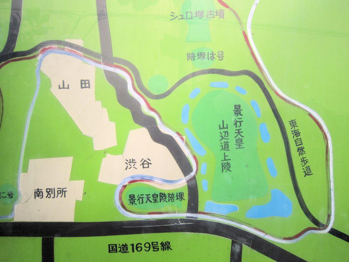 景行天皇陵周辺地図