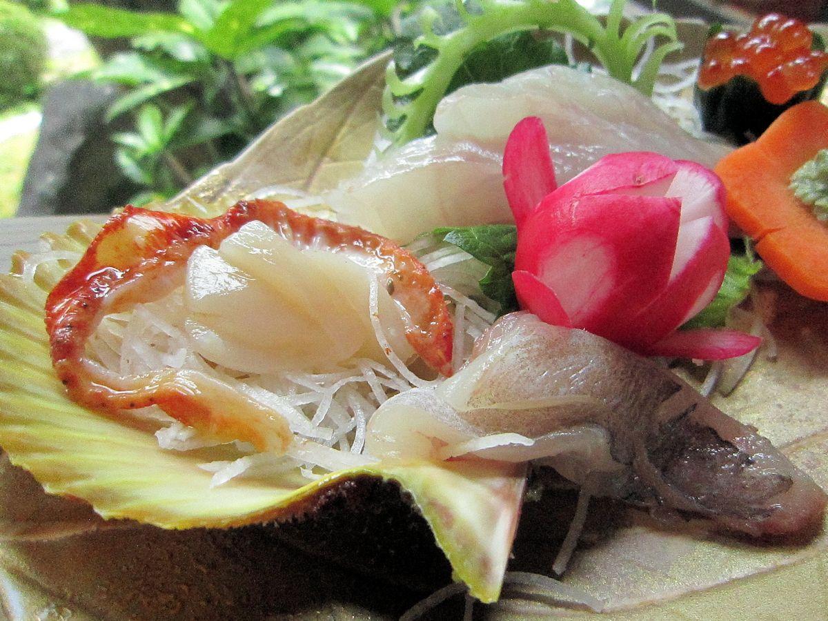 ヒオウギ貝の刺身