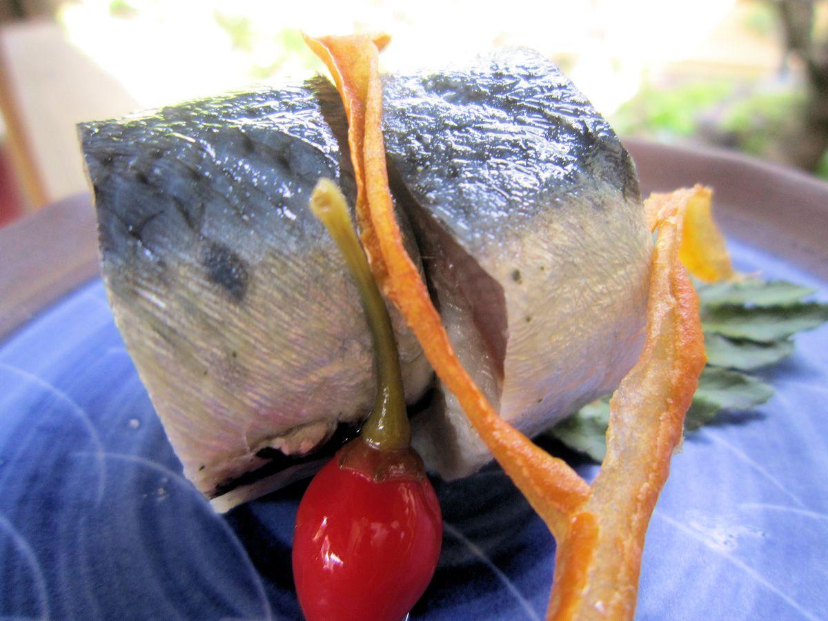 大羽いわしの生鮨大和芋仕立て