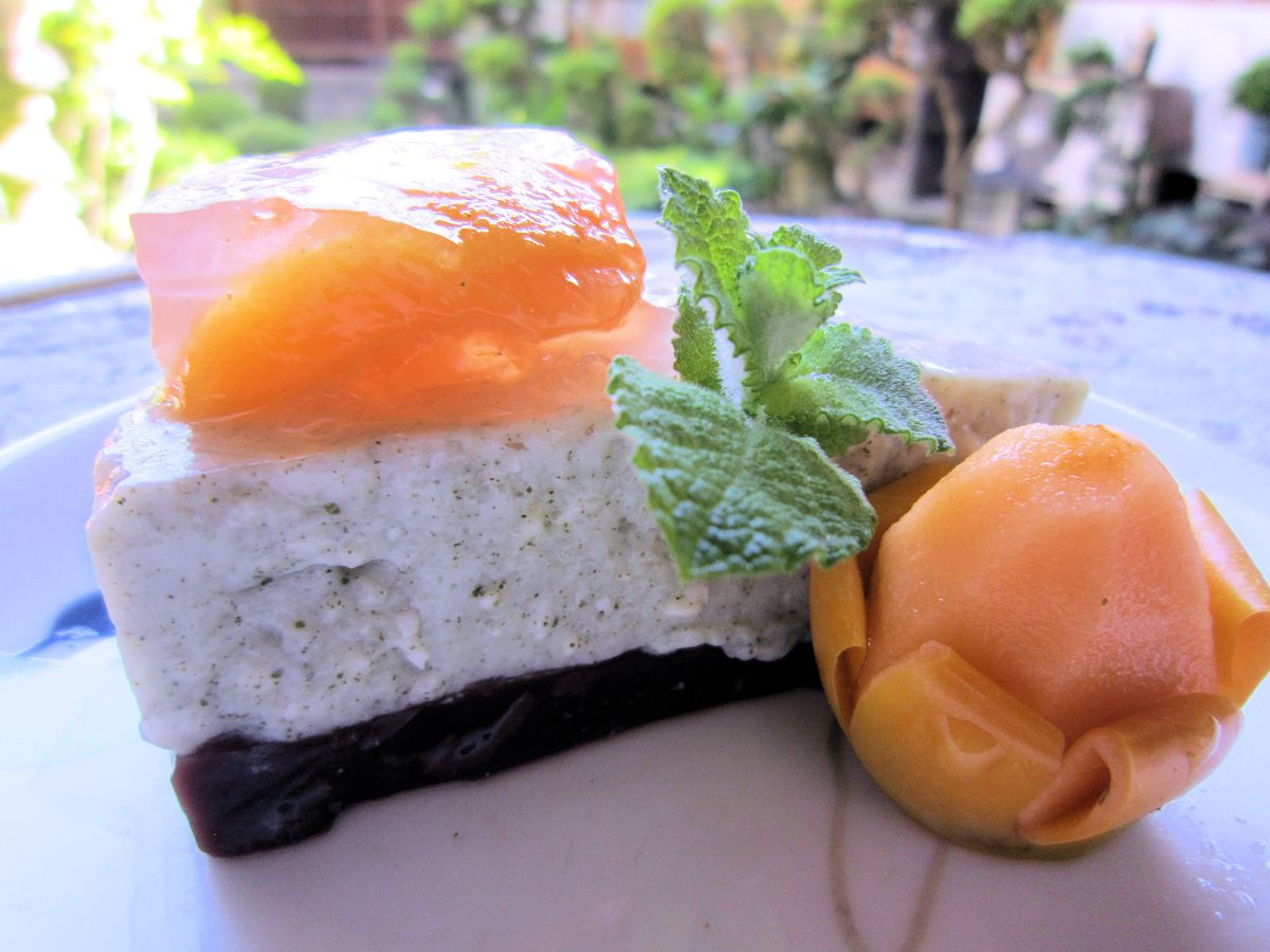 大和茶チーズケーキと姫小夏ゼリー寄せ