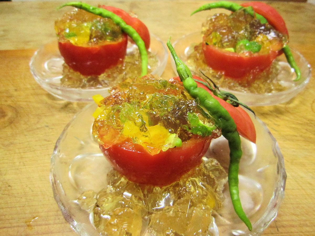 桃太郎トマトの夏野菜ゼリー寄せ