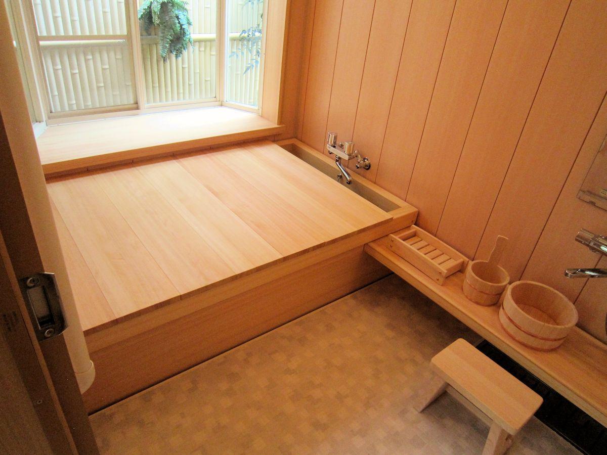 桧風呂の蓋
