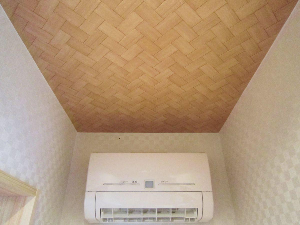 網代天井の脱衣場