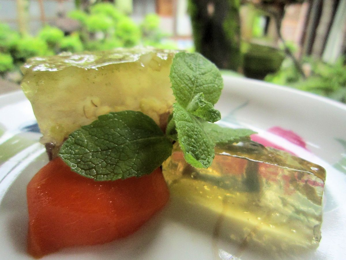緑米の錦玉羹